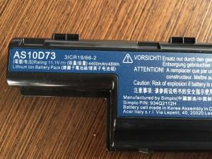 Battery Partnummer P/N No. AS10D73