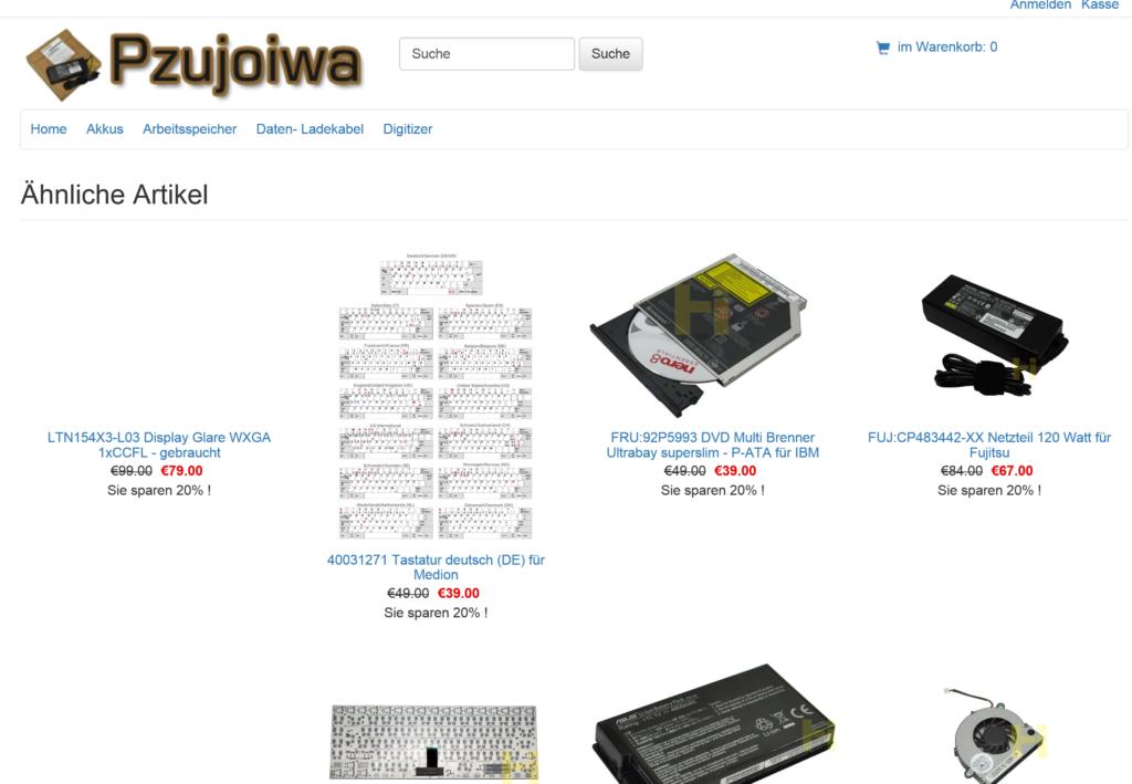 FAKE Shop - IPC-Computer Produkte pauschal 20% billiger