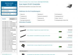 ACER Notebook Ersatzteile