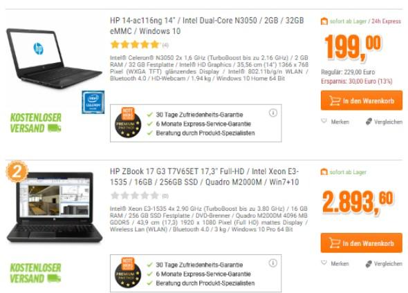 hp-notebook-preisvergleich-billig-teuer