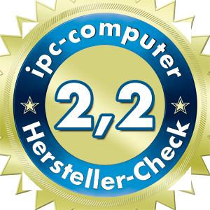 Im Branchendurchschnitt: Das Ergebnis für HP im IPC Notebook-Hersteller Service-Check.