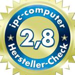Ein durchschnittliches Ergebnis für DELL im IPC Notebook-Hersteller Service-Check.