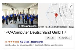 Bewertungen über IPC Computer bei Google