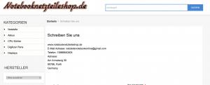 Notebook Netzteile Fake Shop Impressum