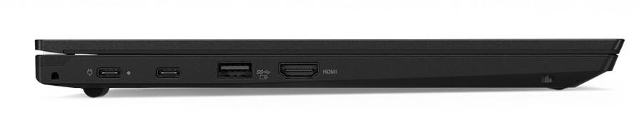 Seitenansicht des Lenovo ThinkPad L380, es hat unter anderem einen USB-C Anschluss mit dem das Gerät geladen wird.